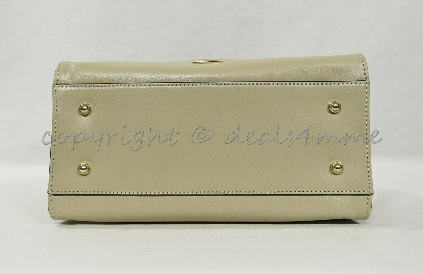 NWT Brahmin Mini Priscilla Smooth Leather Satchel/Shoulder Bag in Sand Topsail image 10
