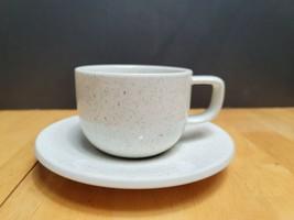 Sasaki Colorstone Birch Flat Cup & Saucer Set Speckled  - $7.87