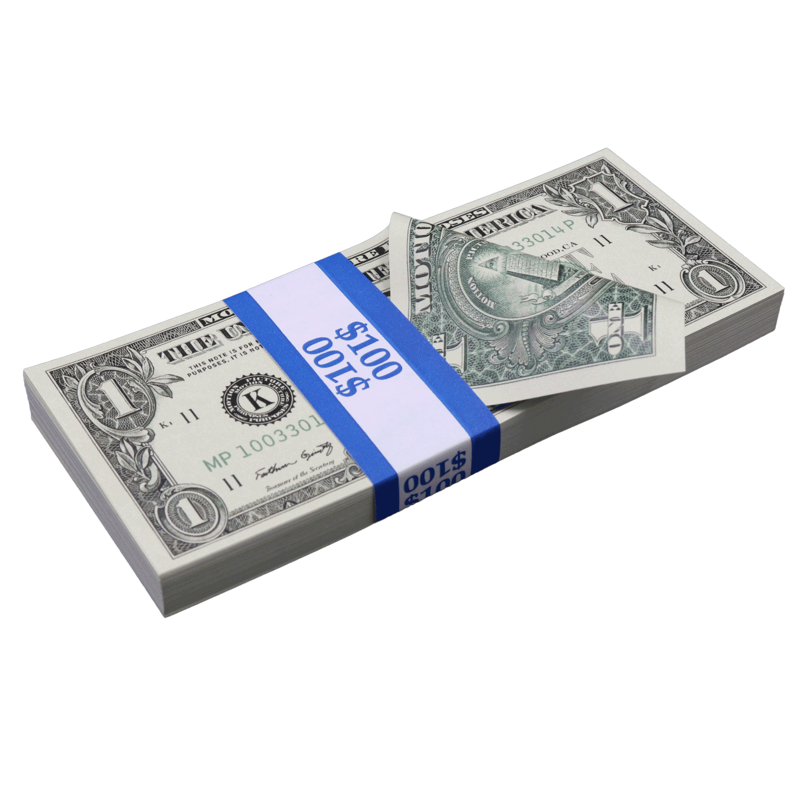 Primary image for $1 Full Print Bills Prop Money Stack