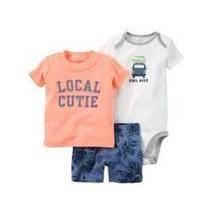 Carter's Infant Boys 3pc T-Shirt, Bodysuit & Shorts Set Local Cutie Size... - $12.60