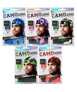 Tyche Silky Durag Men's Camo Pattern Ultra Stretch Extra Long Tie Doo Ra... - $5.95