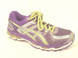 Woman's Sneaker Asics 7.5 Gel Kayano 21  T4H7N  Purple Silver Green (cs) - $18.99