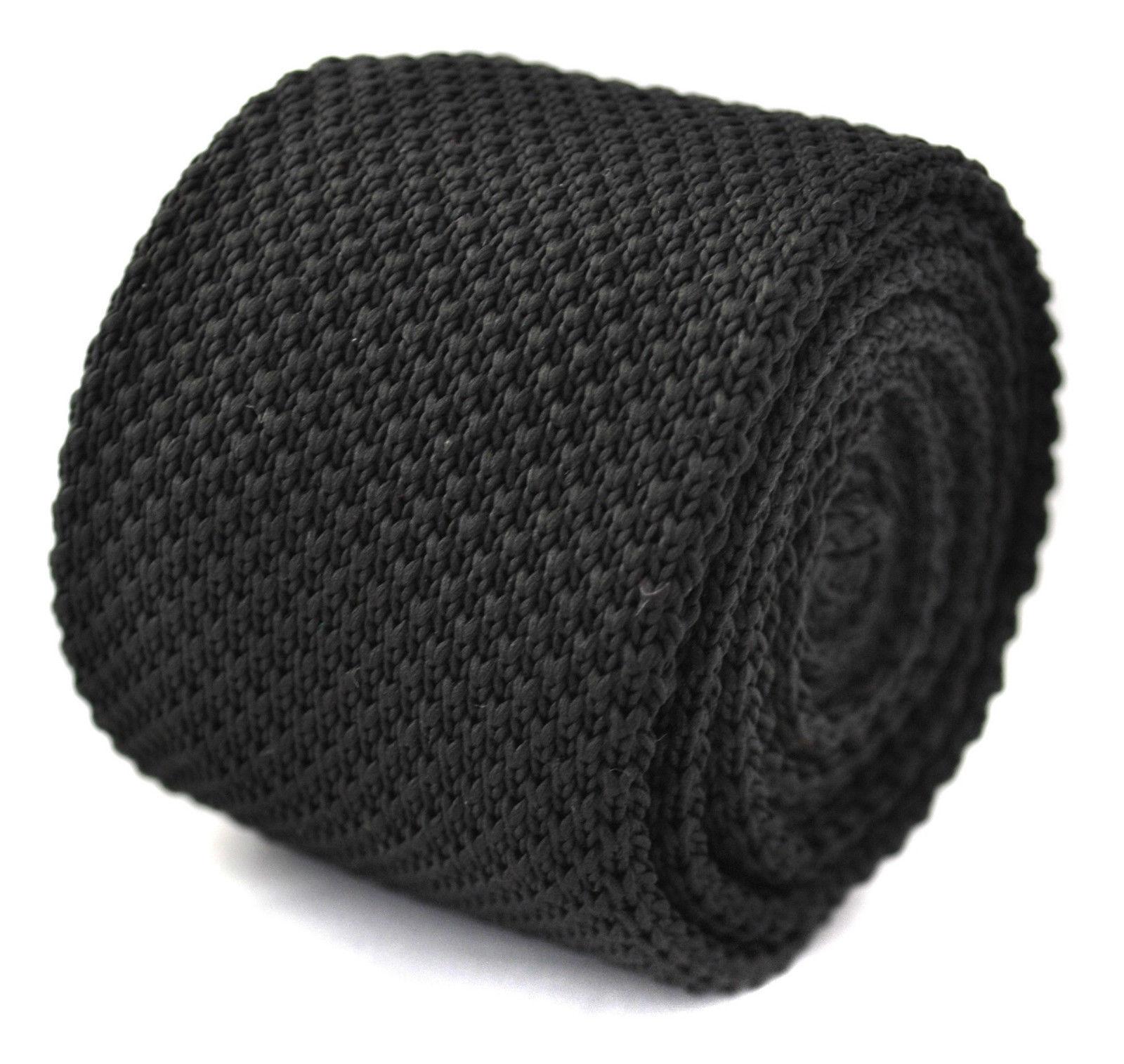 assorties Cravate en maille et Poche Carré Noir PAR FREDERICK THOMAS