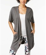 Ideology Open-Front Wrap , Charcoal Heather, Size XXL, MSRP $44.5 - $21.49