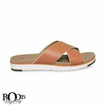 Ugg Kari Fire Opal Leather Flat Sandal Women`s Flip Flops Size Us 9.5/UK 8 New - $88.99