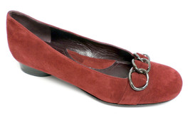 New VIA SPIGA Red Suede Size 5 Ballerina Flats Shoes from Italy - $35.20