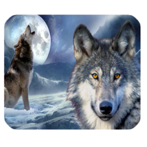 Mouse Pad Wolf Moon Wild Animal In Dark Night Vampire Scary Editions Game - $6.00
