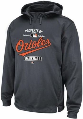 6XL Baltimore Orioles Hoodie Men's MLB Property Of Authentic Sweatshirt Majestic