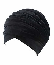 Women Turban Hat Head Wrap - Black African Velvet Magic Headband Turbans... - $17.68