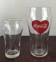 Lot Of 2 Coca-cola Driking Glasses - $11.30