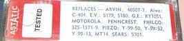 ASTATIC 604 CARTRIDGE NEEDLE for GE RT-1051 Electro-Voice EV 5180 Piezo Y-99-50 image 3