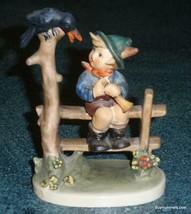 """""""Mischief Maker"""" Goebel Hummel Figurine #342 TMK6 Boy With Black Bird CU... - $76.62"""