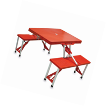 ONIVA - a Picnic Time Brand Portable Folding Table with Seating for 4, Red - $93.39