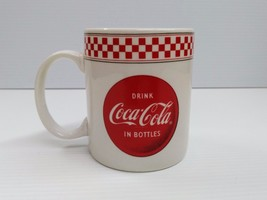 Coca-Cola Checkered Mug - BRAND NEW - $2.96