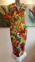 $3K Oscar De La Renta Stunning Floral Silk Broderie Anglaise Runway Dress Us 8 - $395.00