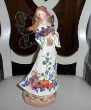 "beautiful angel statue 11"" with grape vine decoration - $14.00"