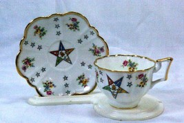 Salisbury Masonic Temple Eastern Star Cup And Saucer Set - $16.09