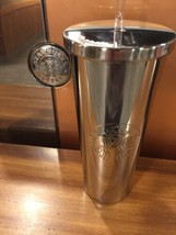 STARBUCKS Silver Stainless Steel Cold Cup High Shine TUMBLER 24 fl oz NE... - $49.13