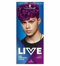 Schwarzkopf Live Hair Dye Semi Permanent Hair Color Men FLASH PURPLE 094 - $15.79
