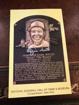 Ozzie Smith 2002 Hall of Fame Postcard Plaque Autographed HOF Cardinals COA - $63.70