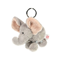 NICI Elephant Grey Stuffed Animal Plush Beanbag Key Chain 4 inches - $11.99