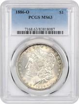 1886-O $1 PCGS MS63 - Beautiful Rim Toning - Morgan Silver Dollar - $2,832.40