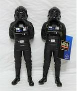 "2 Star Wars Tie Fighter Pilot 10"" Vinyl Figures 1997 Kenner Applause Tags  - $24.99"