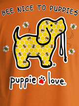 Puppie Love Rescue Dog Adult Unisex Short Sleeve Cotton Tee,Bee Nice Pup image 2
