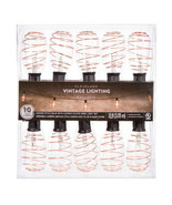 Darice Copper Plated Edison Bulb Light Set - 10 feet w - $24.99