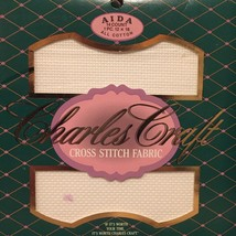 Charles Craft Aida Cloth Cross Stitch Fabric 14 count 12x18 WHITE - $2.79