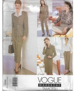 VOGUE Wardrobe Pattern #1999-Designer TAMOTSU-Misses Dress-Top-Blouse-Sk... - $9.46