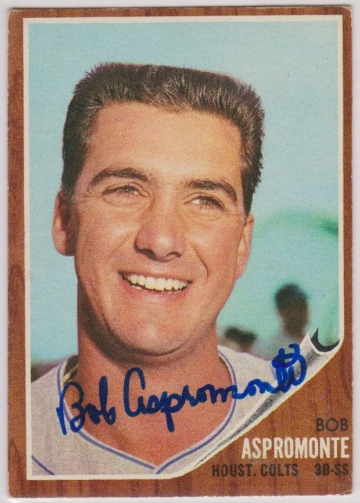 Primary image for Bob Aspromonte Signed Autographed 1962 Topps Baseball Card - Houston Colt .45's