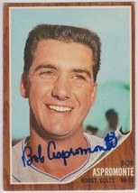 Bob Aspromonte Signed Autographed 1962 Topps Baseball Card - Houston Col... - $12.99