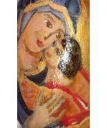 Hand painted rock art Virgin Mary and Baby Jesus, Orthodox Icon, Inspira... - $19.99