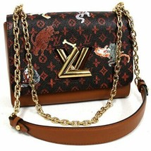 Louis Vuitton Twist Bag MM Catogram gold shoulder Grace Coddington M4440... - $3,900.60