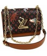 Louis Vuitton Twist Bag MM Catogram gold shoulder Grace Coddington M4440... - $3,900.60