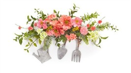"""Decorative Cosmos/Berry Crest w/Garden Tools (Set of 2) 25""""L Polyester/P... - £48.94 GBP"""