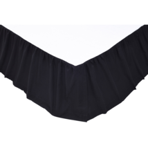Solid Black Bed Skirt - All Sizes Available - Vhc Brands