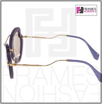MIU MIU SCENIQUE Butterfly 11R Lilac Translucent Violet Gold Sunglasses MU11RS image 2