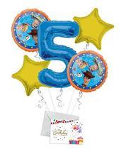 Toy Story 4 Happy Birthday Balloon Bouquet (5 Balloons), 5th Birthday   ... - $12.99