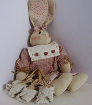EASTER MOTHER BUNNY RABBIT WITH BABIES ON CLOTHES PINS COUNTRY STYLE - $19.79