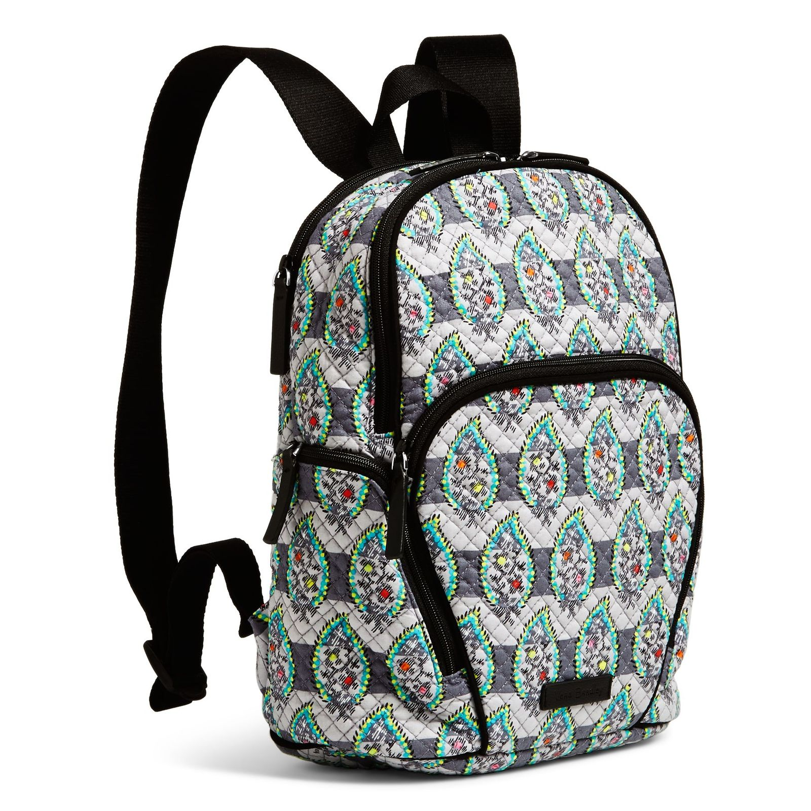Vera Bradley Quilted Signature Cotton Hadley Backpack, Paisley Stripes