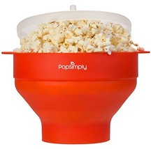 Microwave Popcorn Maker & Popper by PopSimply, Fast and Easy Homemade Po... - $22.17