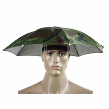 Outdoor Umbrella Hat Sun Camping Fishing Head Wear Cap Hands Free Foldable - $5.55