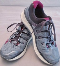 Saucony Triumph ISO 4 Fog Grey Purple Running Athletic Everun Shoes Wome... - £39.93 GBP