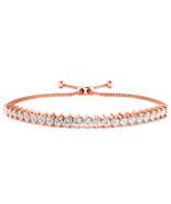 Adjustable 1 Ct D/VVS1 Diamond Prong Tennis Bolo Bracelet 14K Rose  Gold... - $101.96