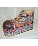 Vintage Nursery Rhyme Little Old Woman In A Shoe Tin Box Bank - $33.65