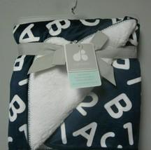 Just Born Navy Blue White Alphabet Letter Number ABC 123 Baby Boy Blanke... - $49.49