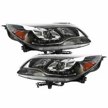 Left&Right Headlights Lamps Halo LED Projector Fit 2013-2015 Chevy Malibu Black - $292.31