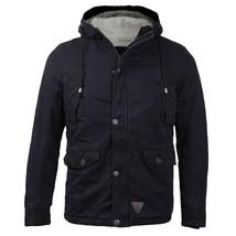 Maximos USA Men's Button Up Fur Lined Hooded Multi Pocket Sherpa Jacket EMMA-02